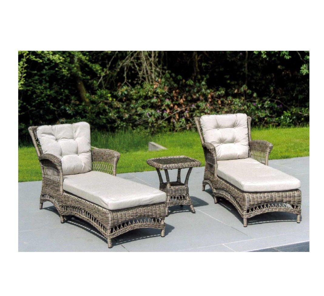 Alexander Rose Pecan Weave Sun Chair Set