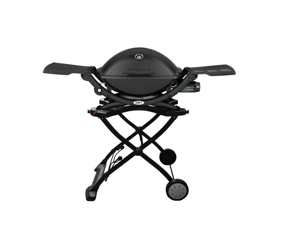 Weber Q2200 barbecue with portable cart