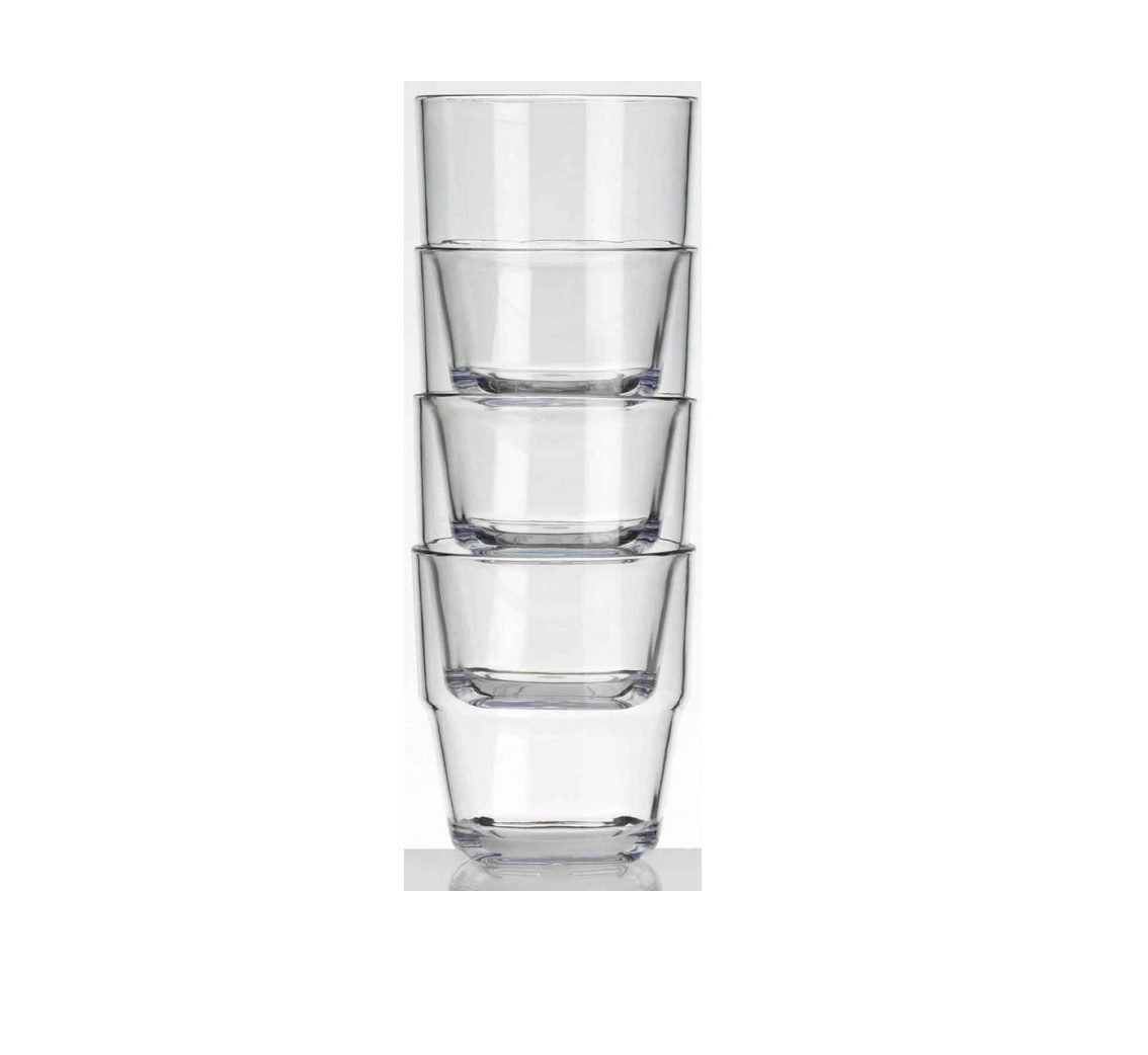 Flamefield Stackable Tumblers - Pack of Four