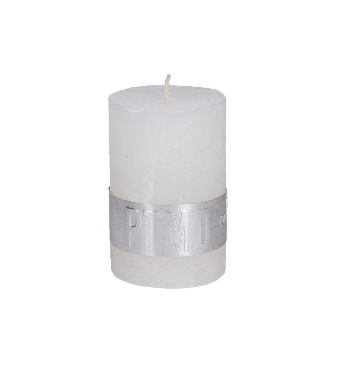 Rustic Hot White Pillar Candle 6X4