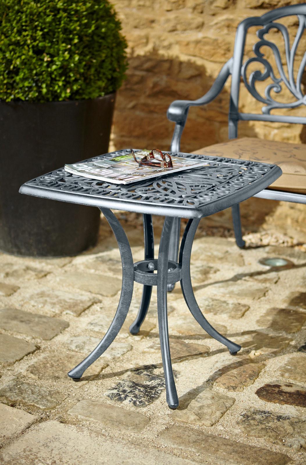 Hartman Amalfi Square Side Table Antique Grey