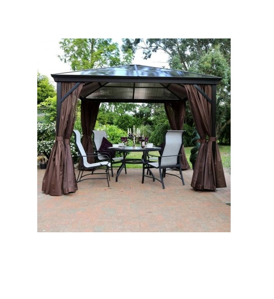 Norcamp Runcton 3X4M Gazeebo Anthracite Brown