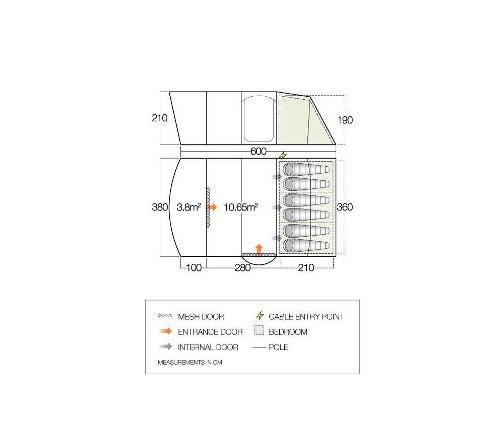 Vango 2018 Tents Floorplan Hayward 600Xl 1551103071