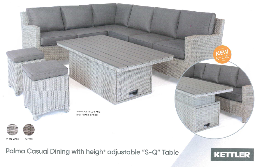 Palma Casual Dining With Height Adjustable S Q Table Edited