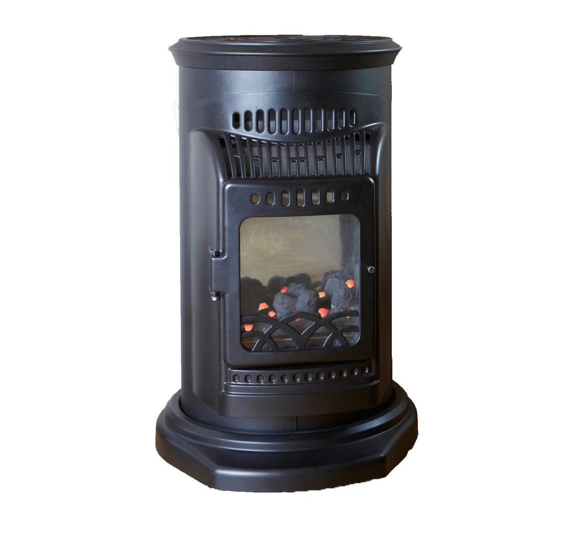 Outback Canterbury Indoor Flame Effect Cabinet Gas Heater - 35582