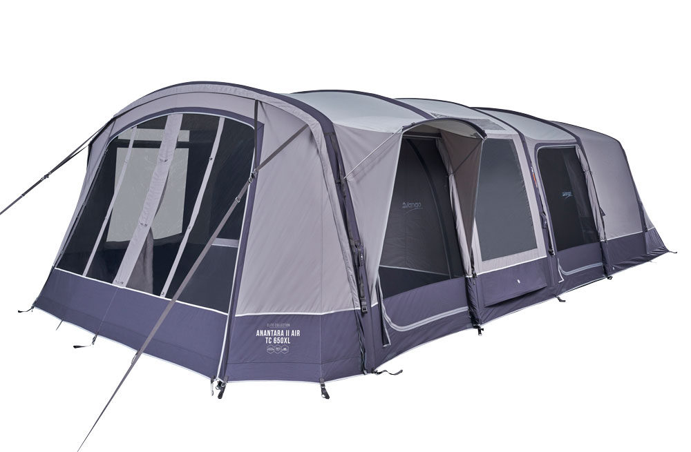 Vango 2020 Tents Airbeam Elite Anantara Air Tc 650Xl Cloud Grey Norwichcamping Co Uk