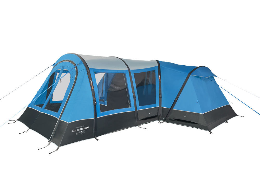 Vango 2020 Tents Airbeam Excel Diablo Air 850Xl Sky Blue Norwichcamping Co Uk