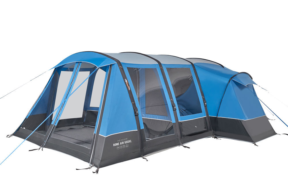 Vango 2020 Tents Airbeam Excel Rome Air 550Xl Sky Blue Norwichcamping Co Uk