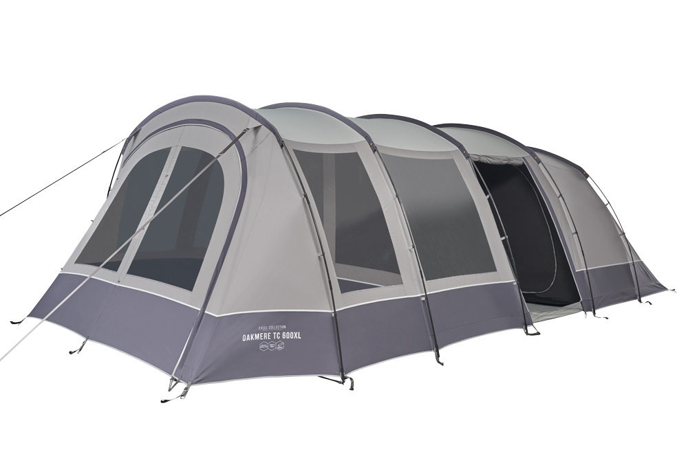 Vango 2020 Tents Family Excel Oakmere Tc 600Xl Cloud Grey Norwichcamping Co Uk