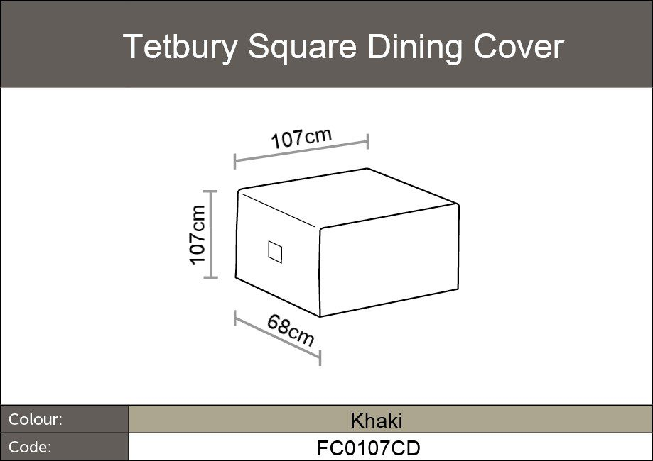 Tetbury Square dining table dimensions