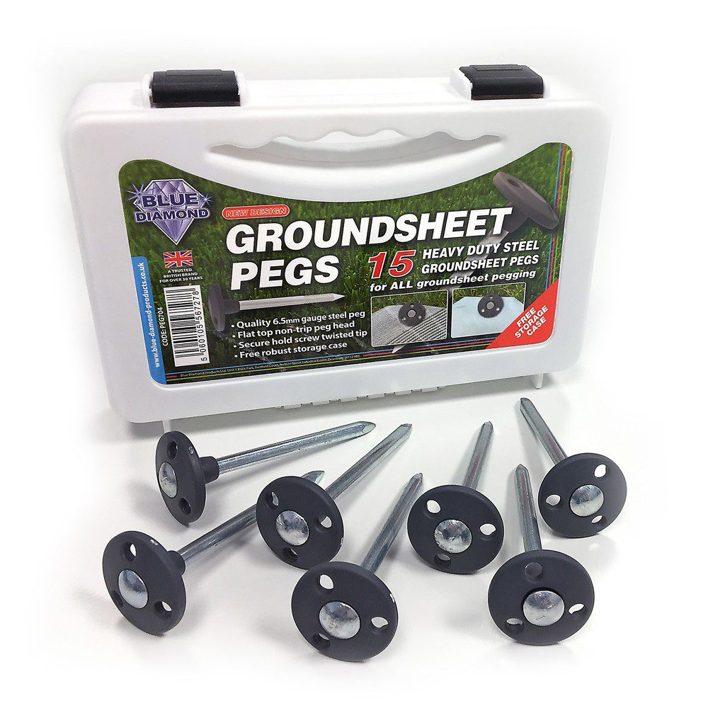 Metal Groundsheet Pegs 1
