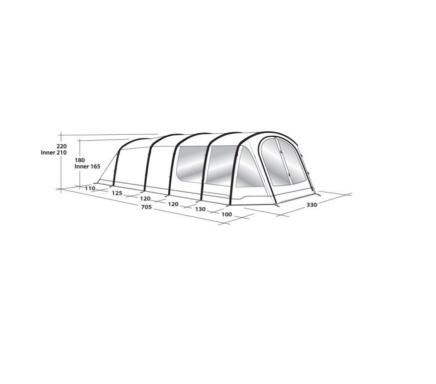 110903 Outwell Woodburg 6A Air Tent 2