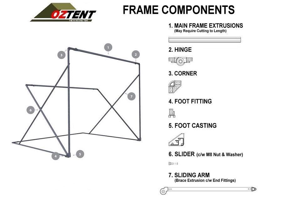Oztent Part Diagram