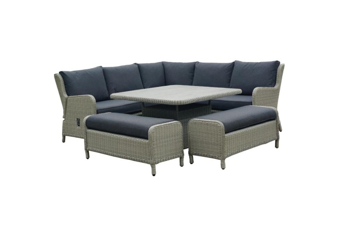 Bramblecrest Chedworth High/Low Corner Set with Adjustable Chairs