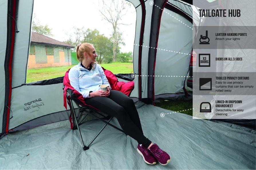 Vango Tailgate Hub Low 2021 Norwich Camping 2