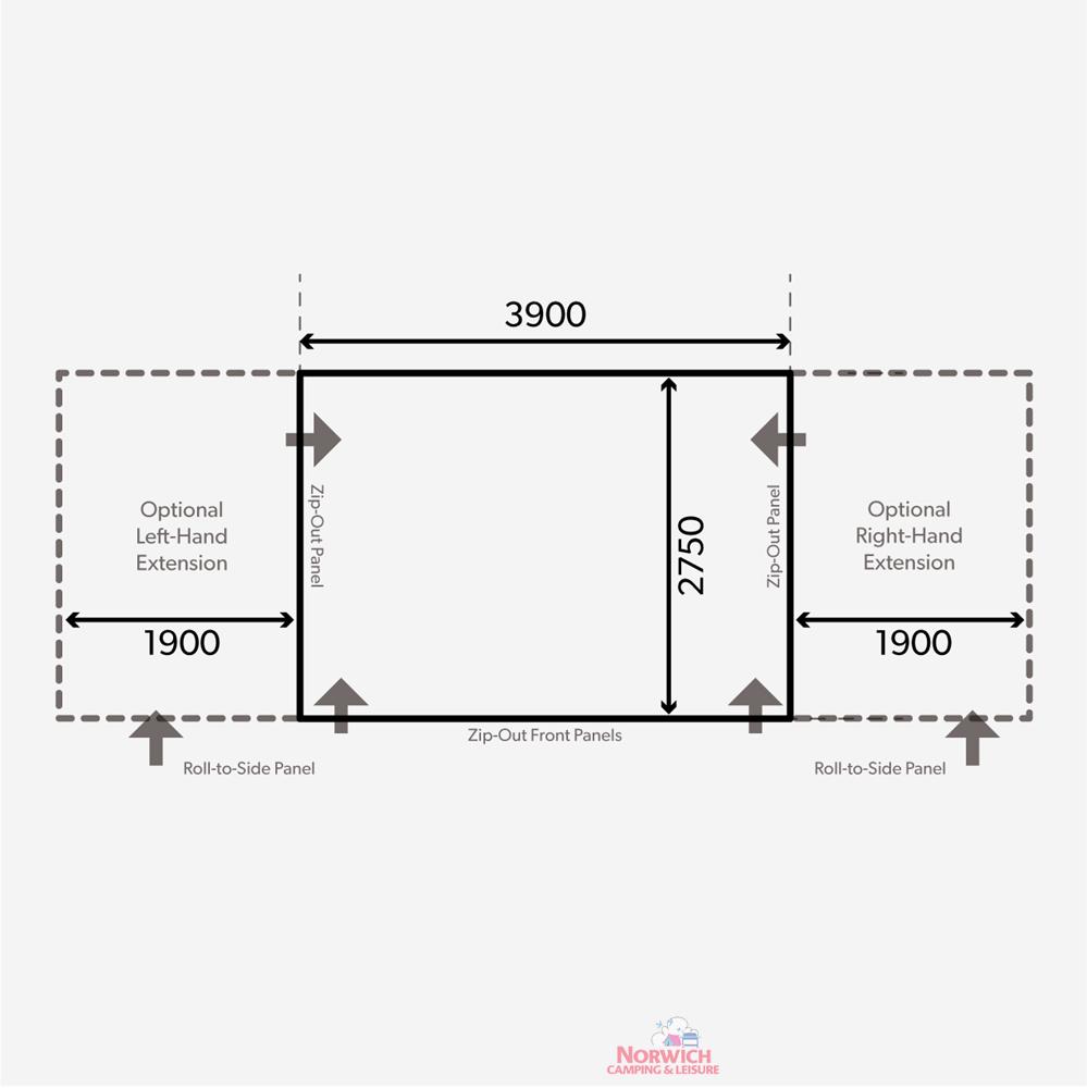 2021 Floorplan Club Air All Season 390 S
