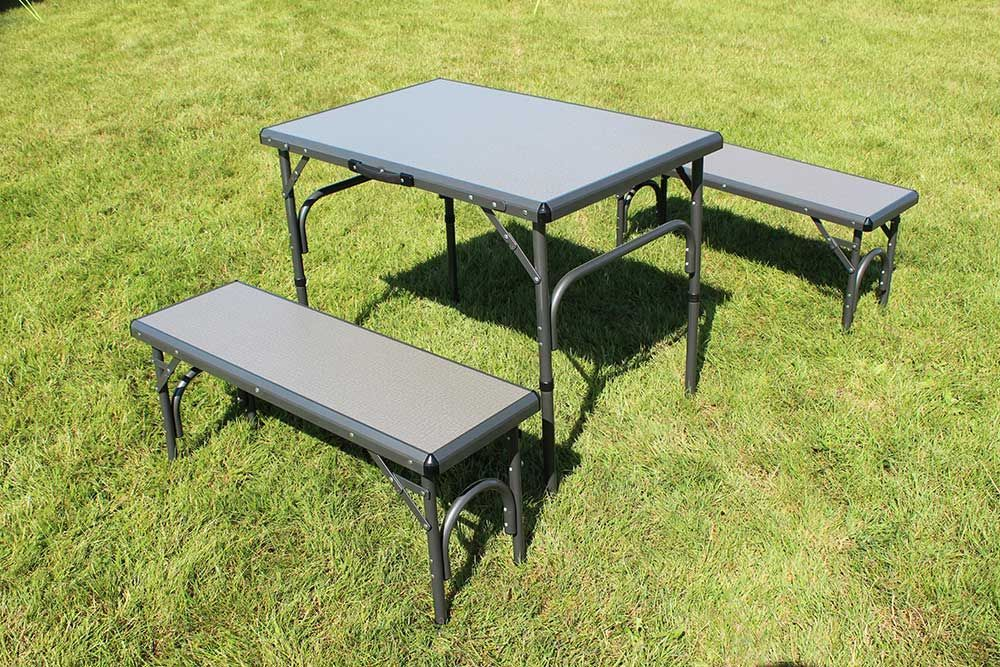 Camping Table And Bench Set
