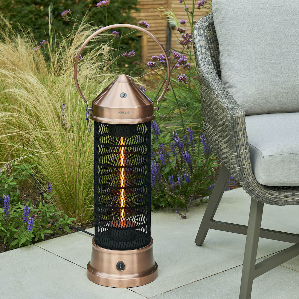 Kettler Copper Lantern Patio Heater - Small