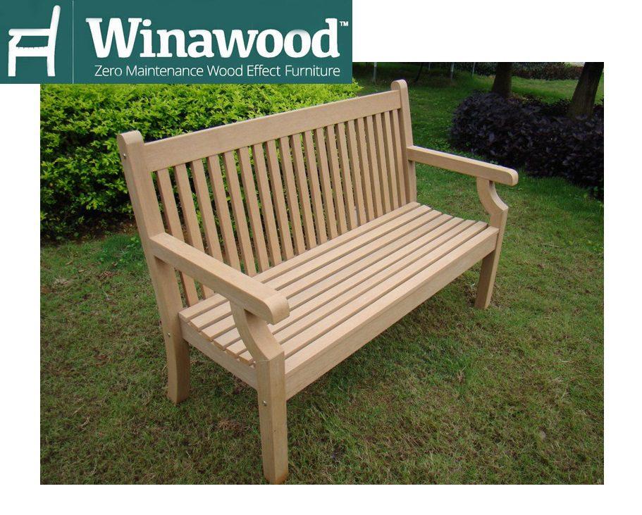 Norcamp Winawood Sandwick 2 Seater Wood-Effect Bench - Teak Finish