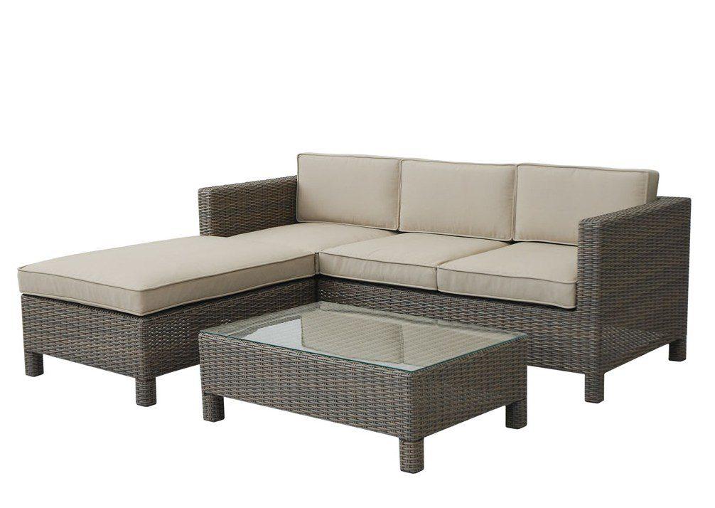 Norcamp Blakeney 3 Seat Ottoman Lounge Set