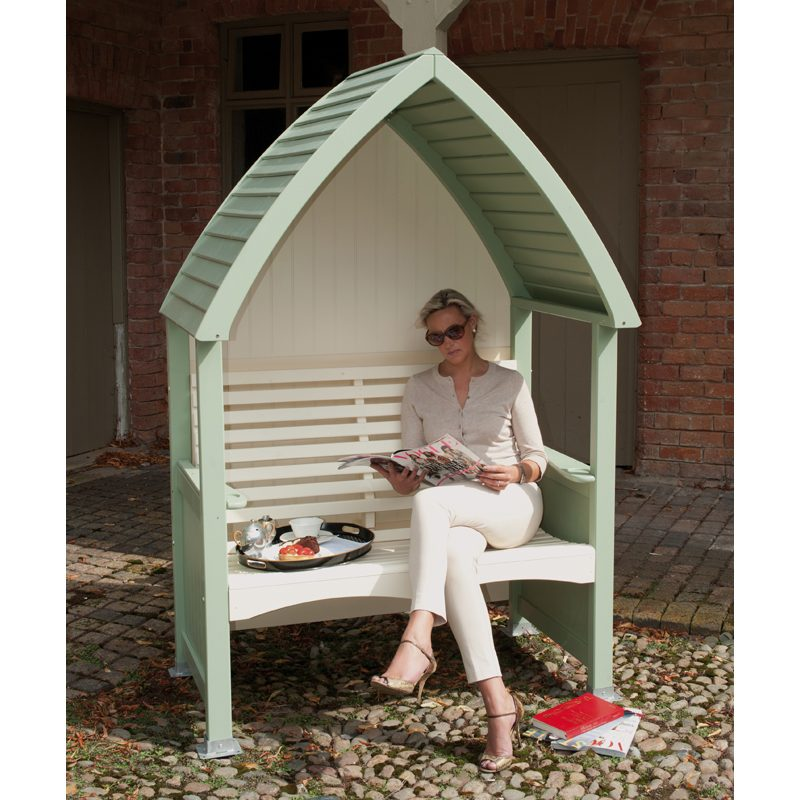 AFK Cottage Arbour in Sage and Cream