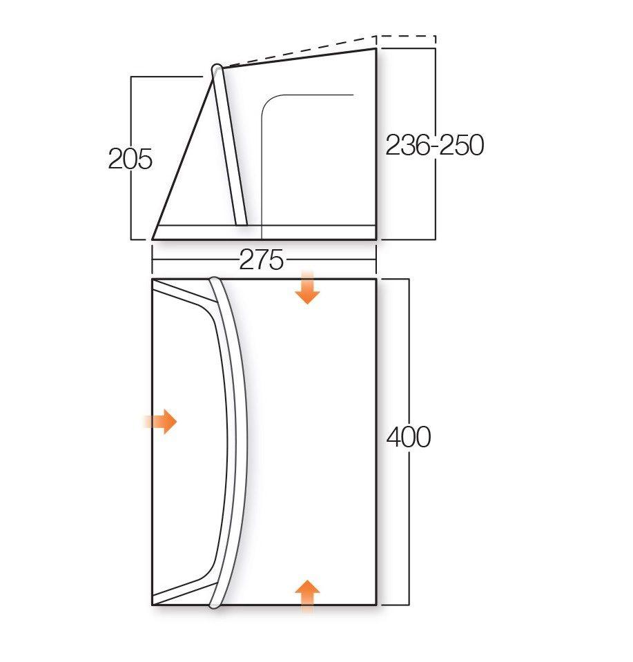 Vango rapide 400 awning floor plan