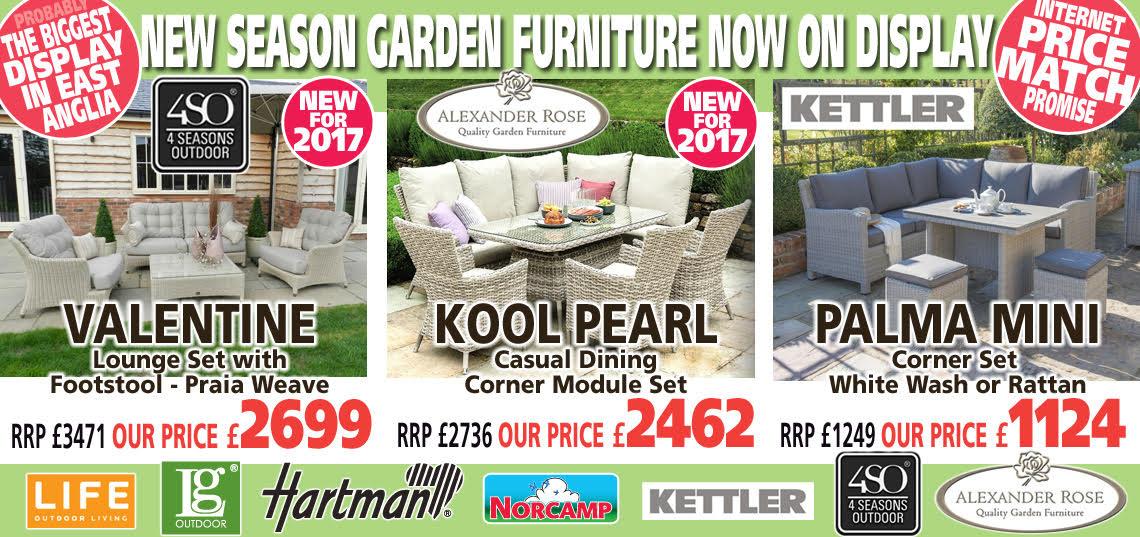 New Season Garden Furniture