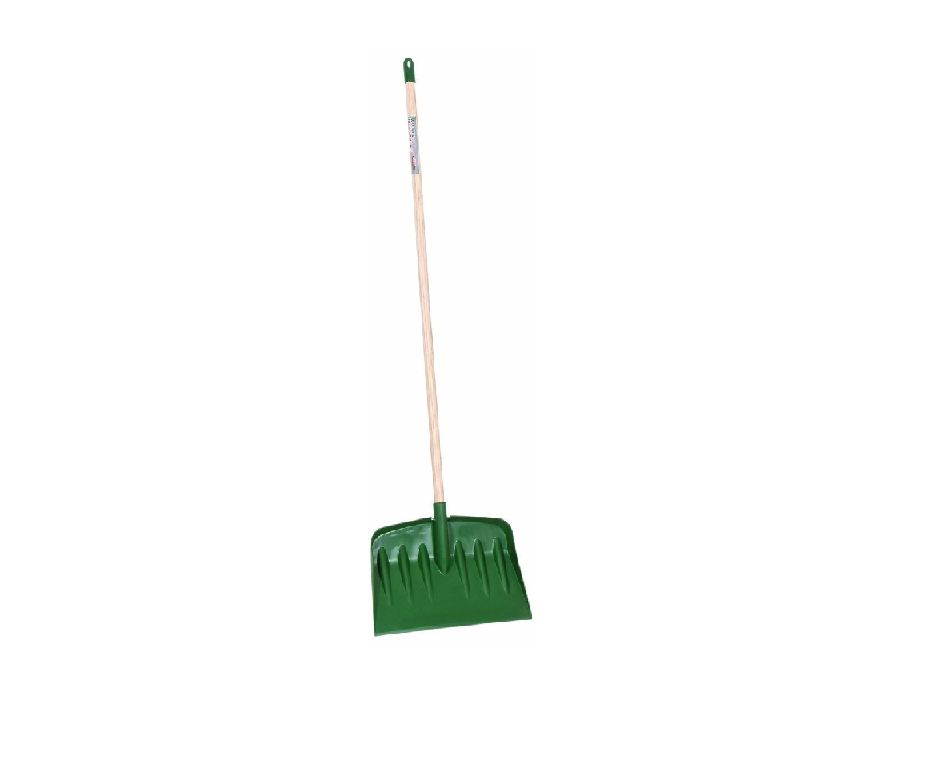 Bosmere W100 Snow Shovel with Wooden Handle - Green