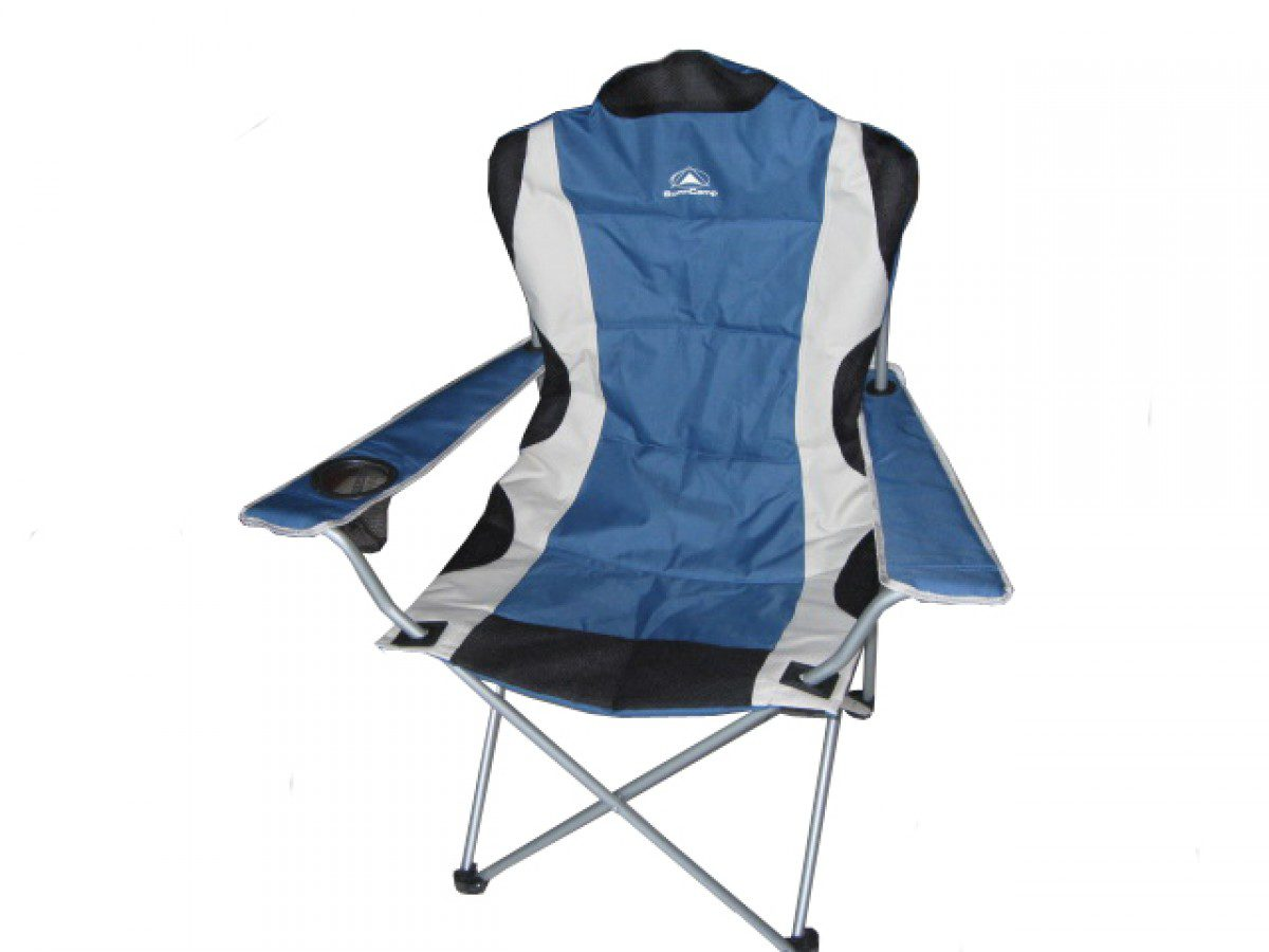 Sunncamp Deluxe Classic Steel Armchair BLUE - FN3052