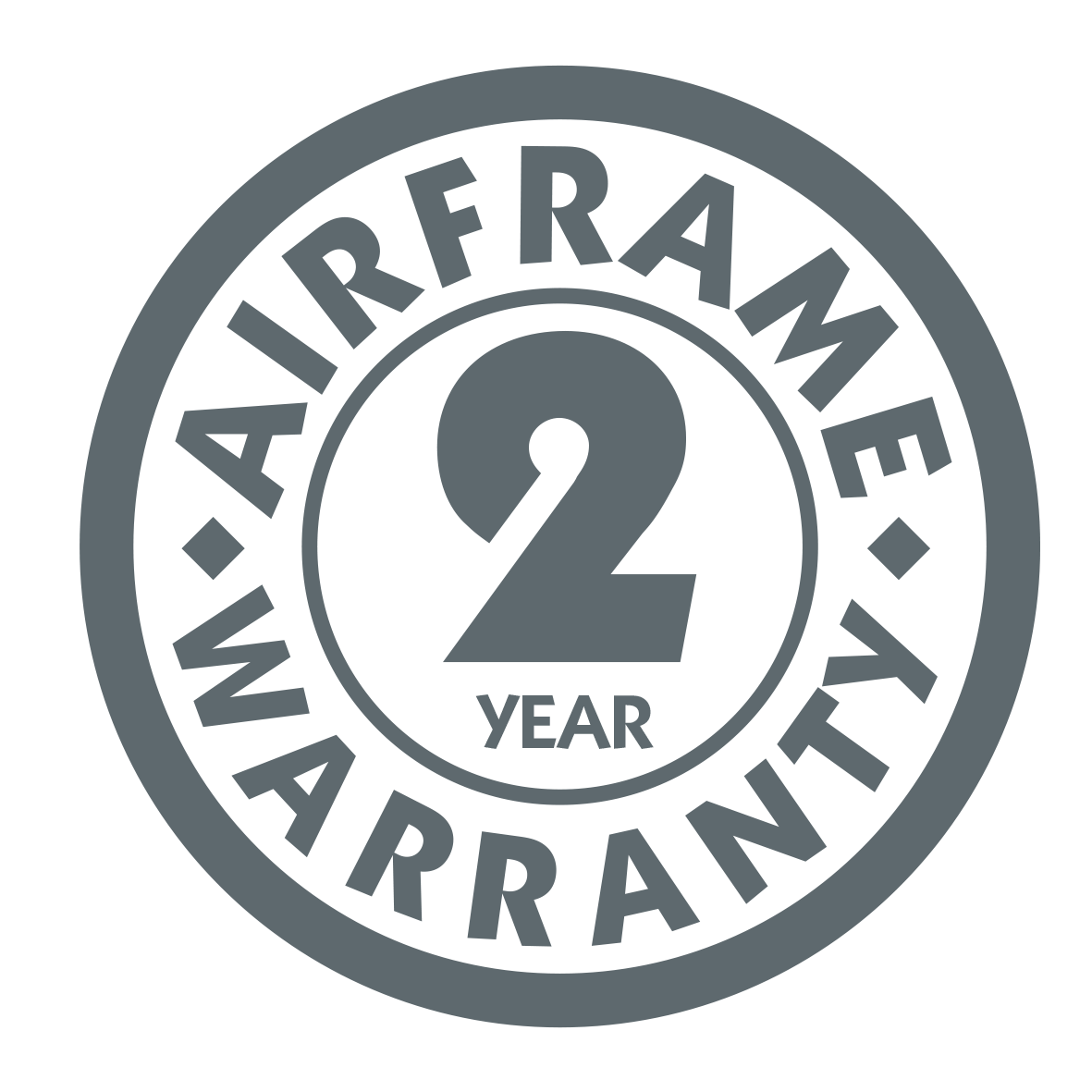 Airframe 2 Year Warranty Charcoal