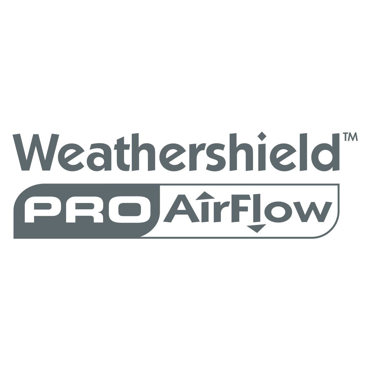 Weathershield Airflow Logo Charcoal