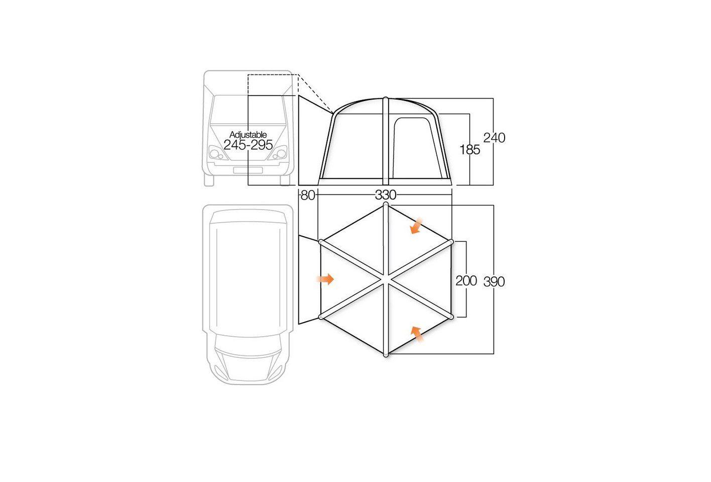 Vango Airhub Hexaway floorplan