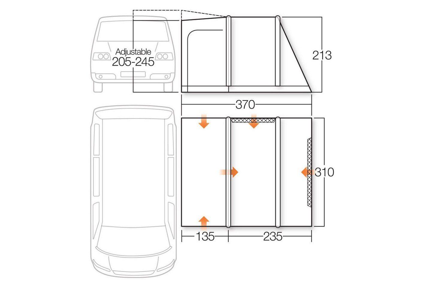 Vango Kela IV Standard Awning specifications 2018