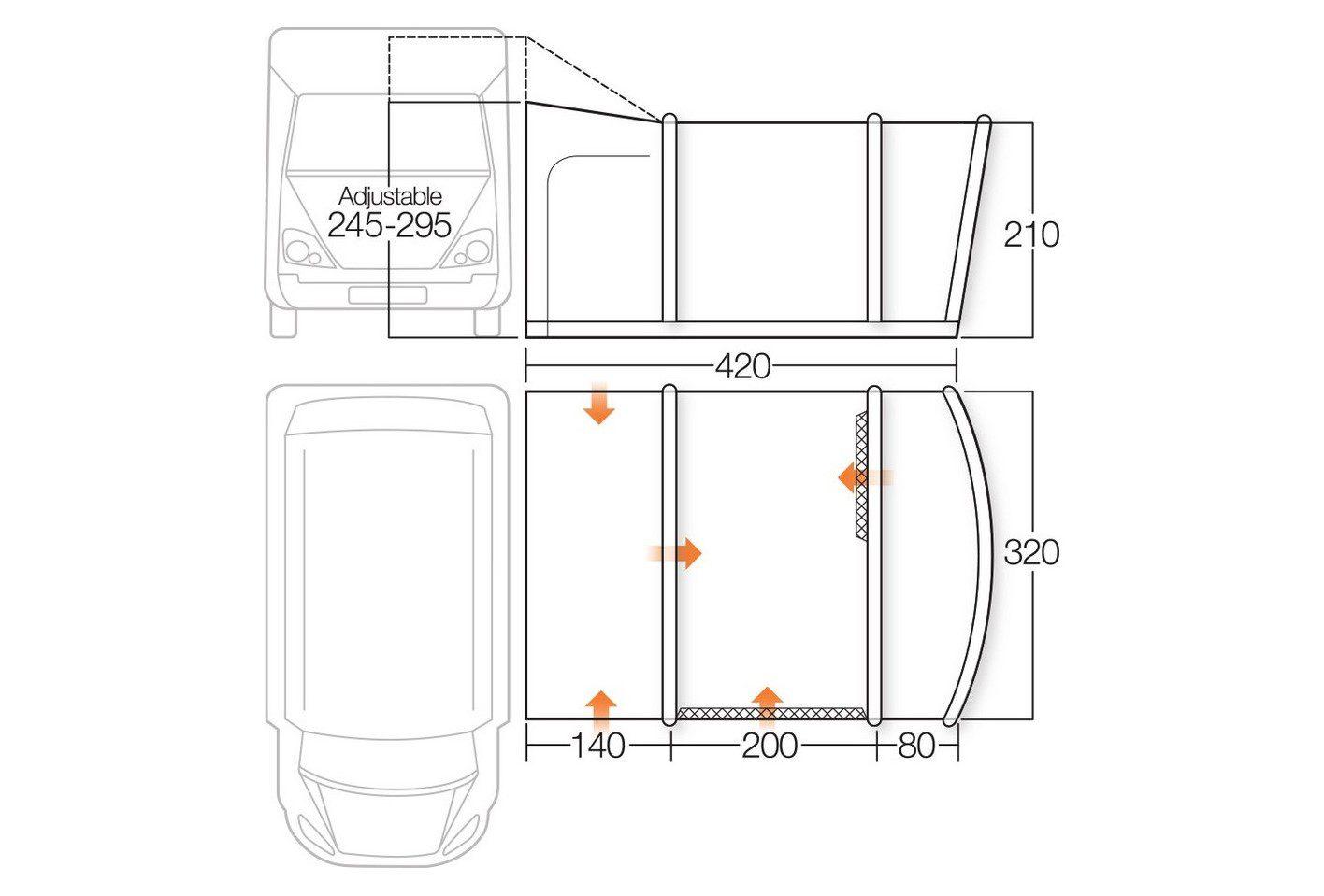 Vango Cruz II Tall 2018 specifications