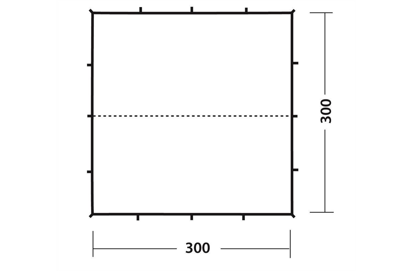 Robens Poly tarp 3x3m floorplan 2018