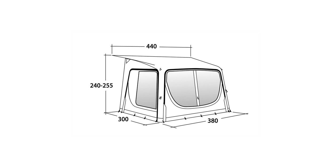 Outwell Tide 380SA awning specifications