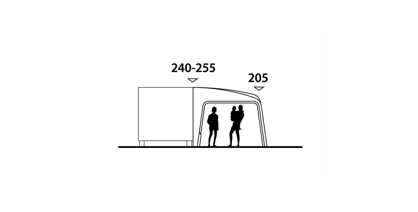 Outwell Tide 380SA awning height
