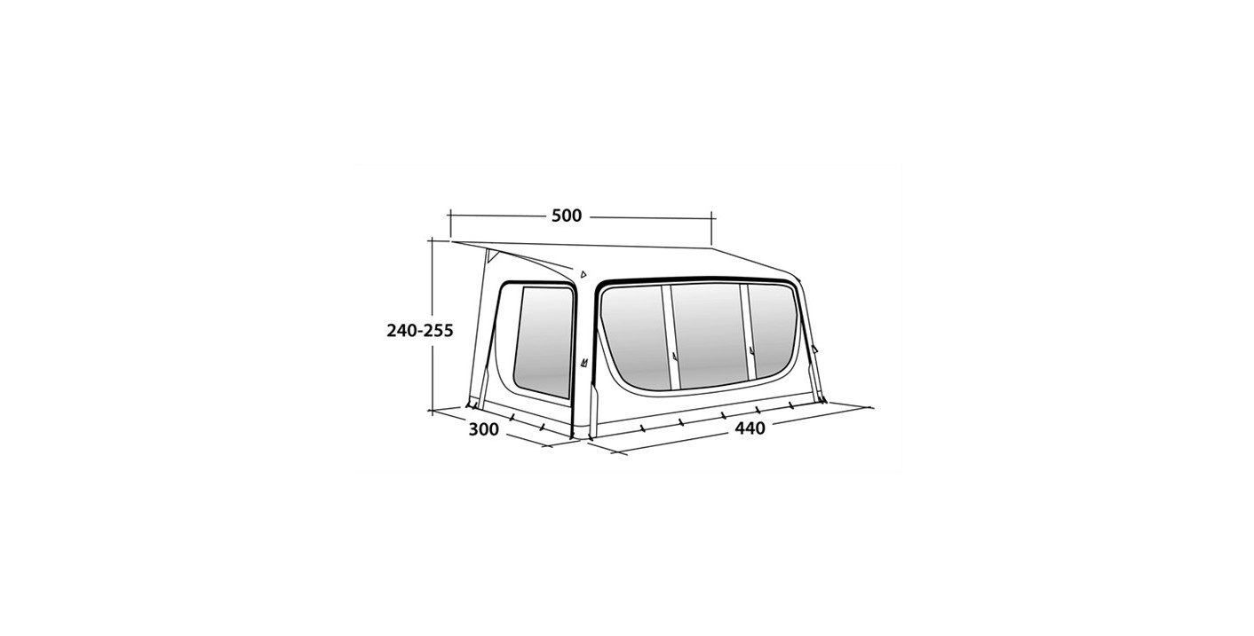 Outwell Tide 440SA awning specifications