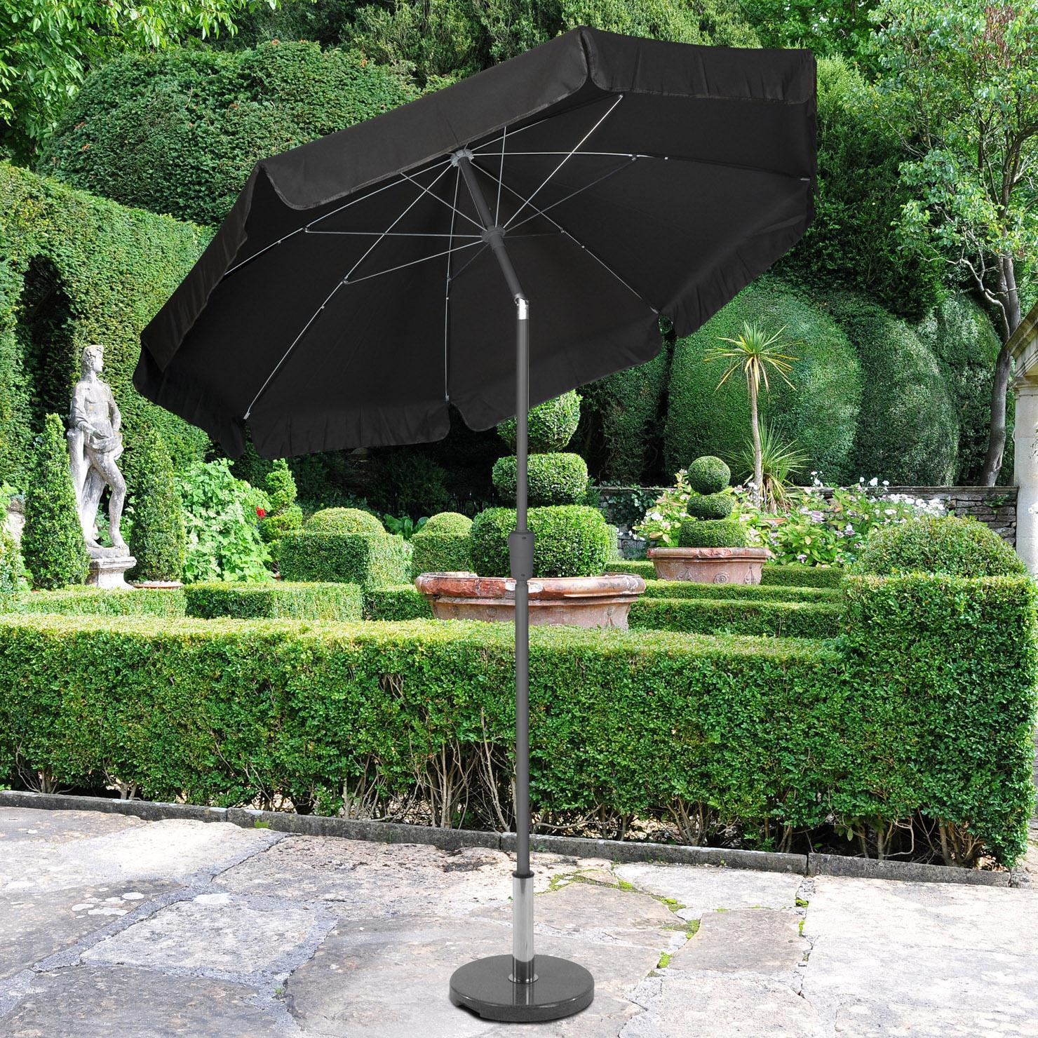 Norfolk Leisure 3m Black Parasol