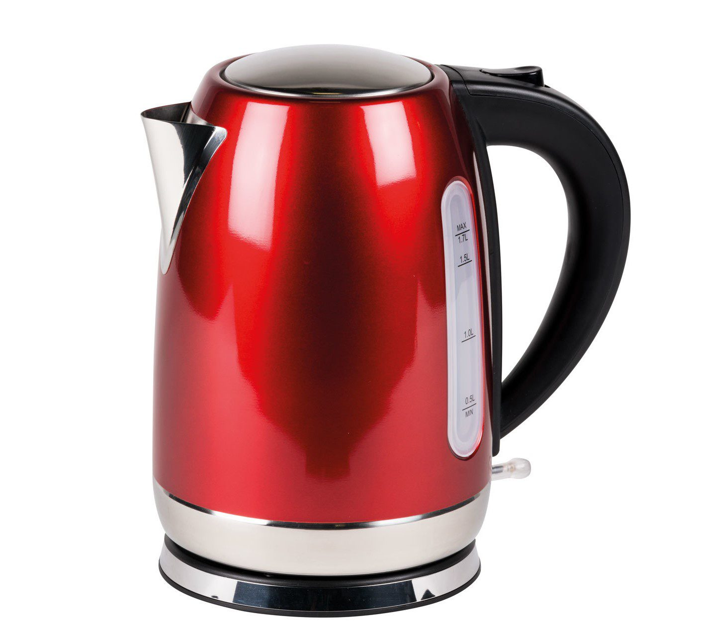 Kampa Storm Stainless Steel Kettle - Red