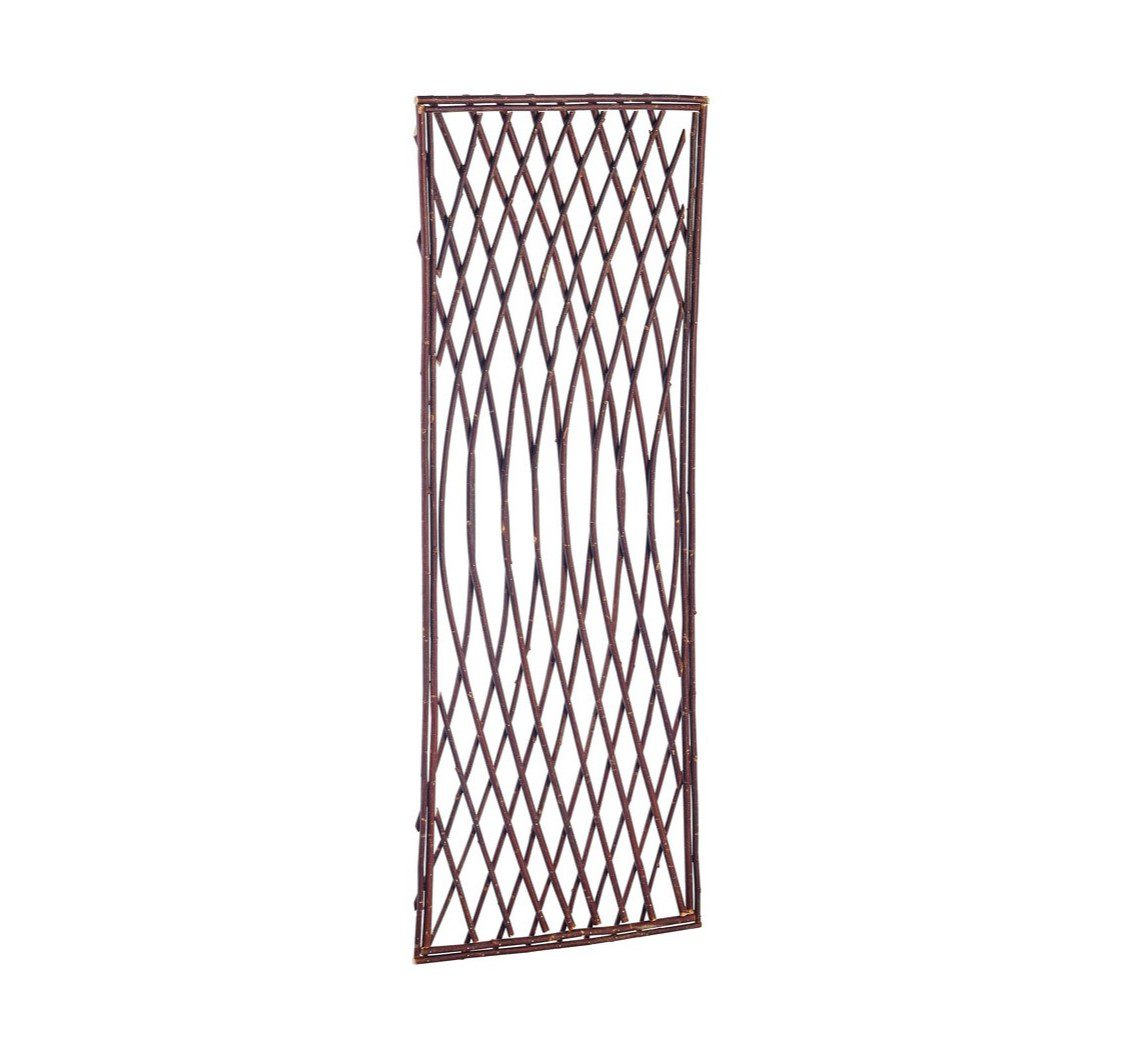 Gardman 1.2m x 0.45m Framed Willow Lattice Trellis Panel