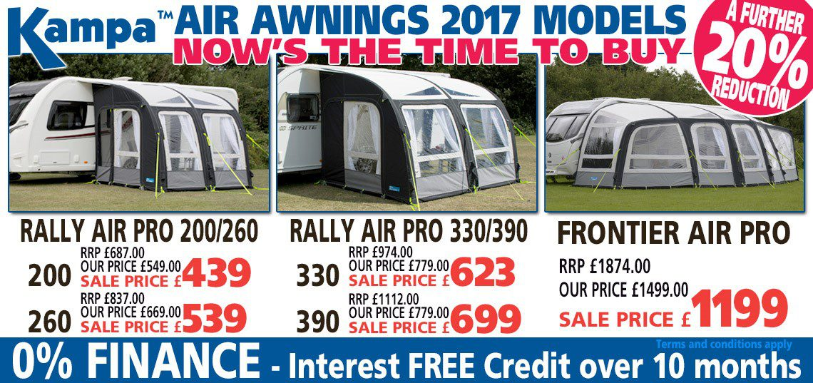 Kampa Air Awnings 2017 - Now's the time to buy