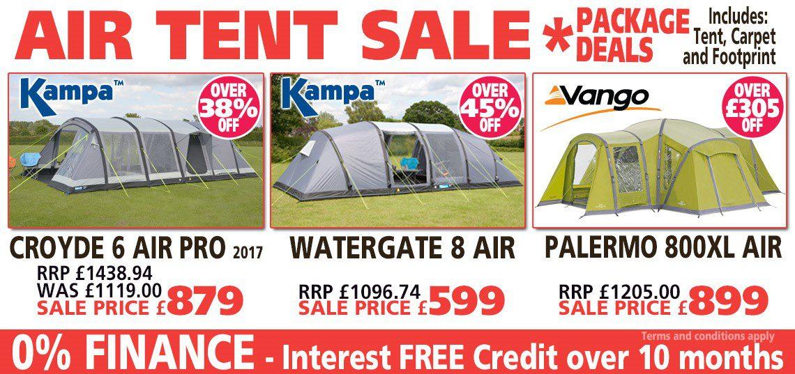 Kampa Air Tent Sale - package deals