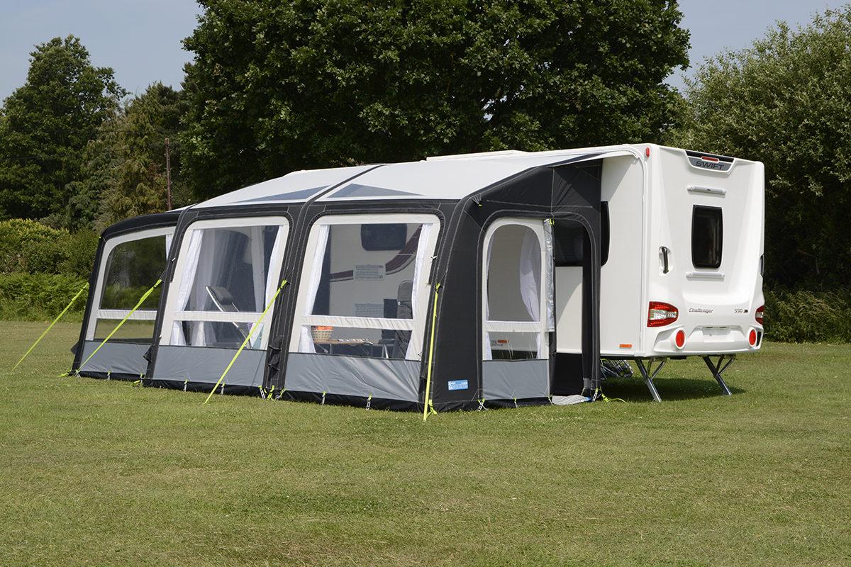 Kampa Rally Air Pro 390 Plus Right Caravan Awning 2018