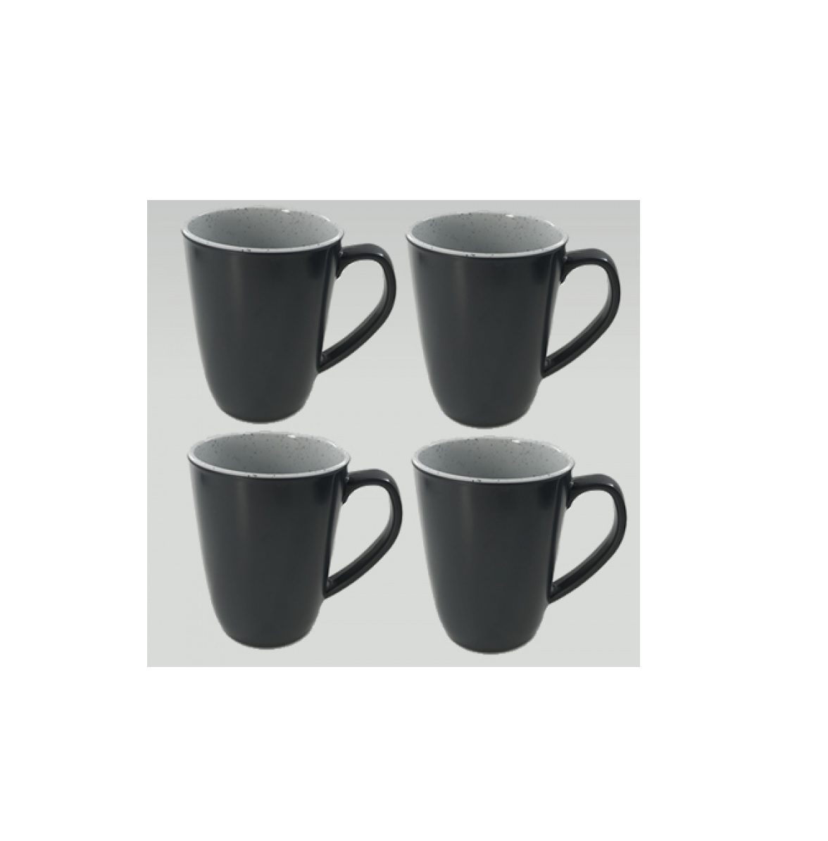 Flamefield 4 pack mug set granite grey