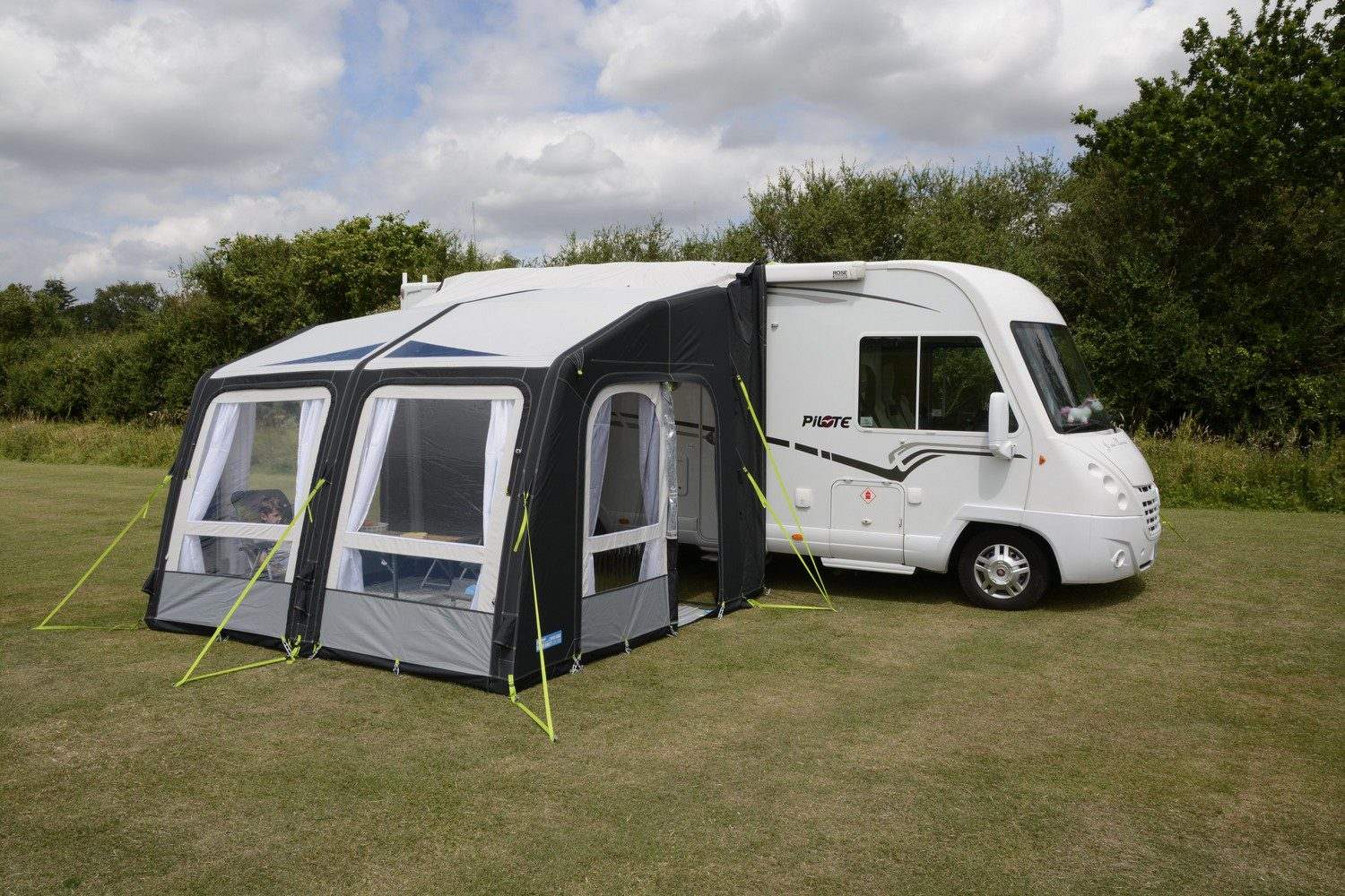 products motor camping kampa awnings l air rally pro motorhome awning
