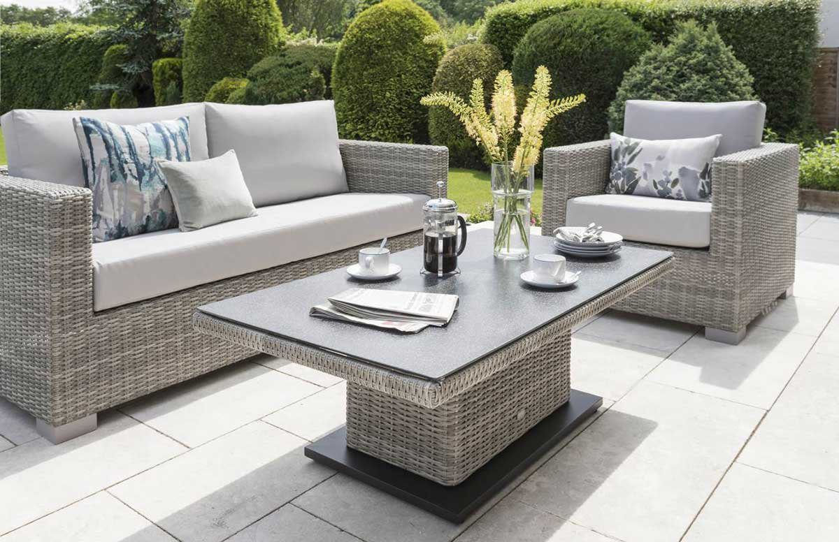 Life Outdoor Living Aya Lounge Set with Adjustable Table