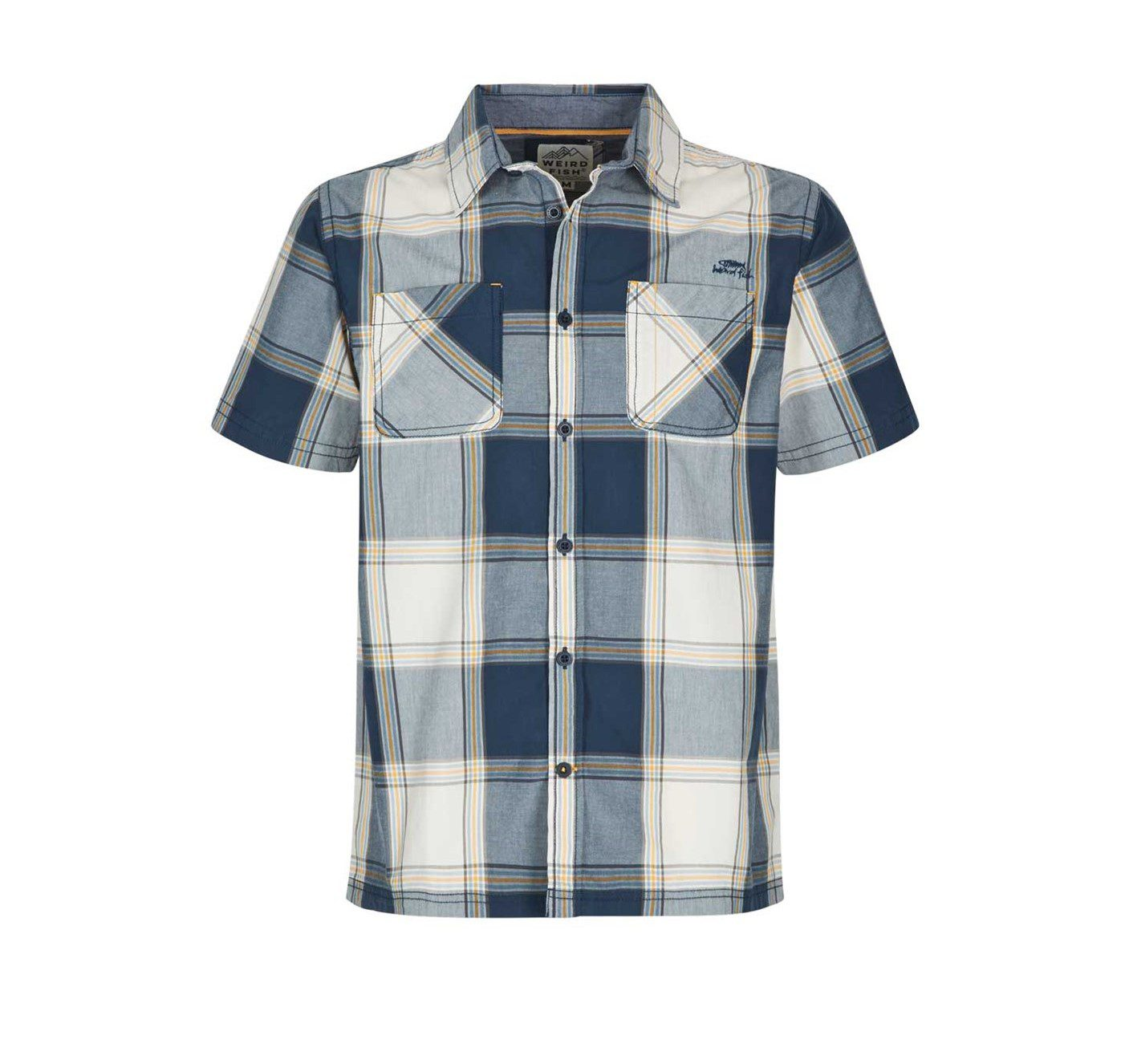 Weird Fish Trevelyan Shirt - Maritime Blue