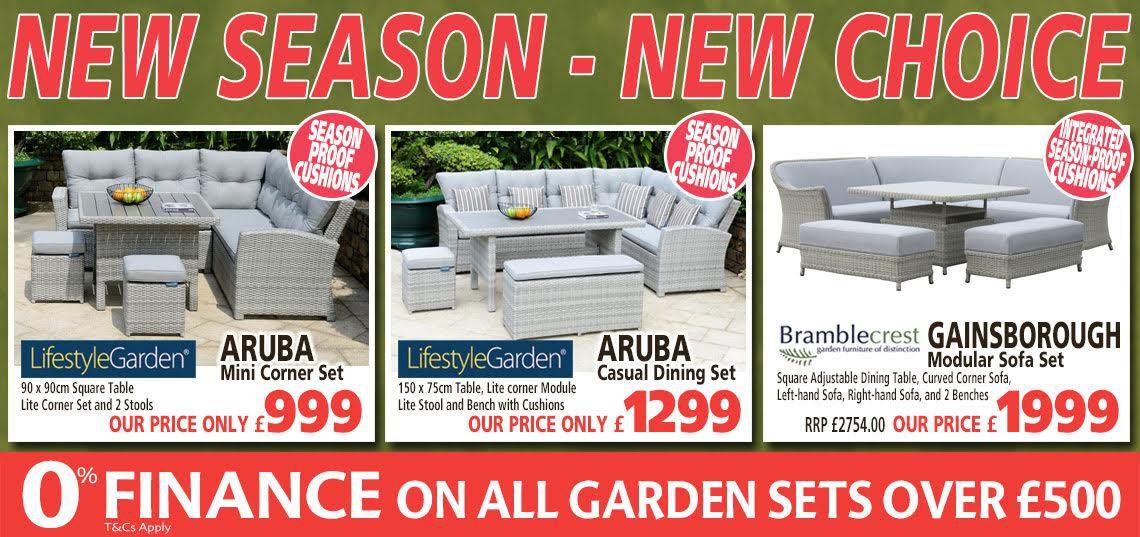 Garden Furniture New Season