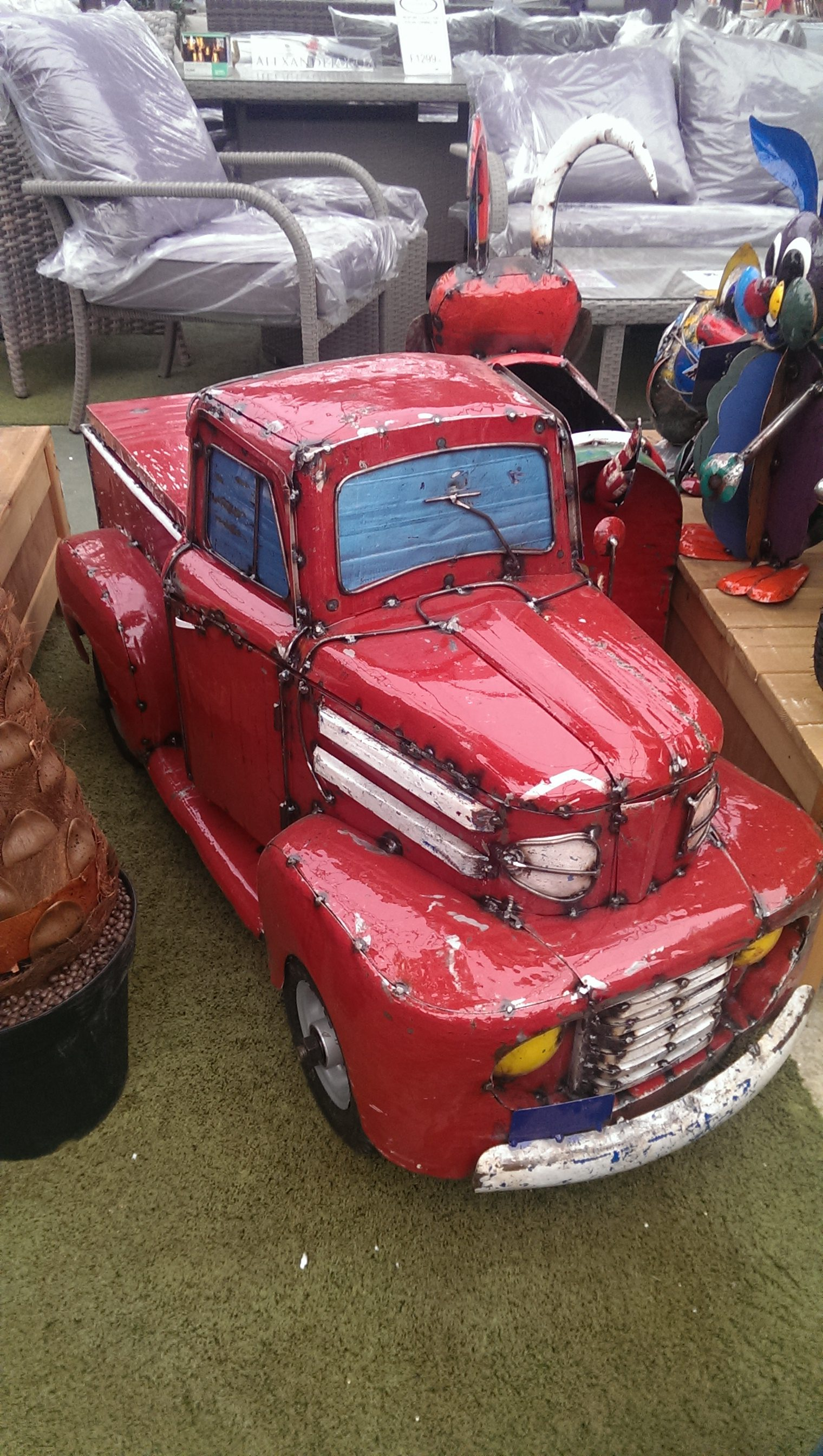 1950s Pick-up Truck Ice-Box - Red